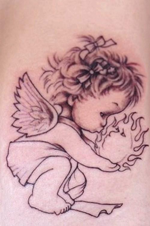 baby angel tattoo2