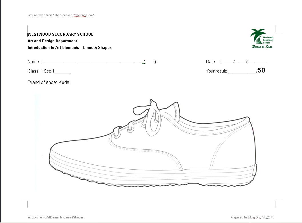 Westwood Art Shed Sec 1 Art Lines Amp Shapes Worksheets