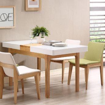 Các mẫu bàn ăn gỗ công nghiệp đẹp cho gia đình