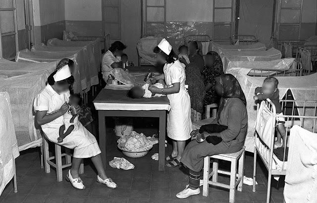 """בית התינוקות במעברת ראש העין בשנות ה-50(צילום: טדי בראונר לע""""מ )"""