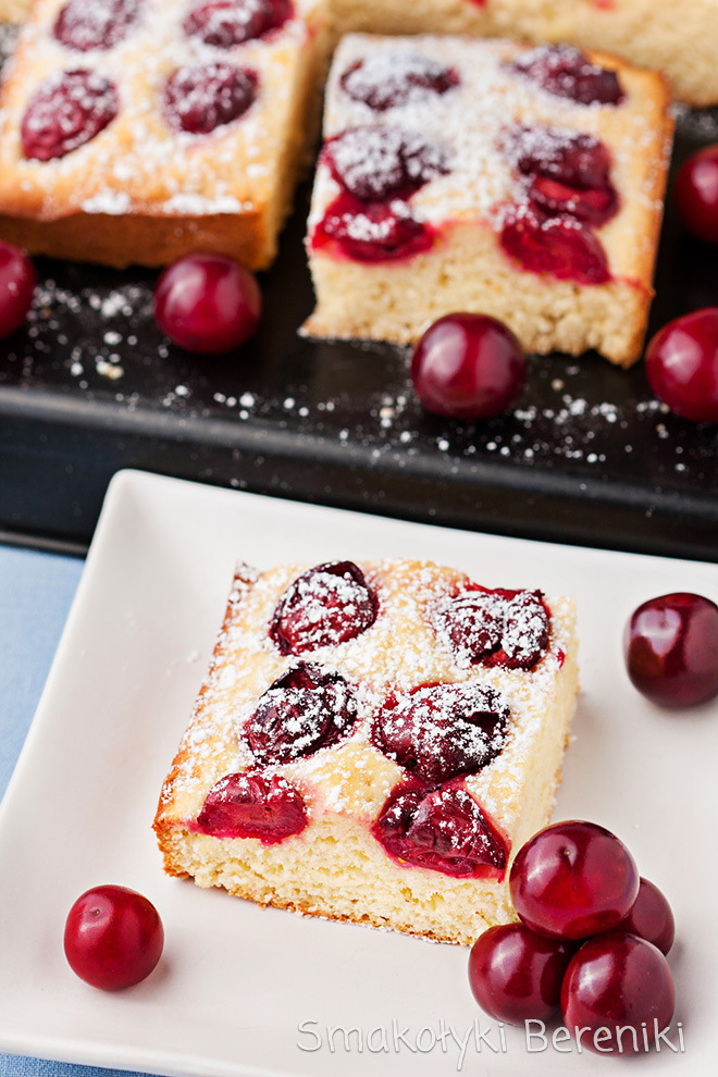proste ciasto z wiśniami