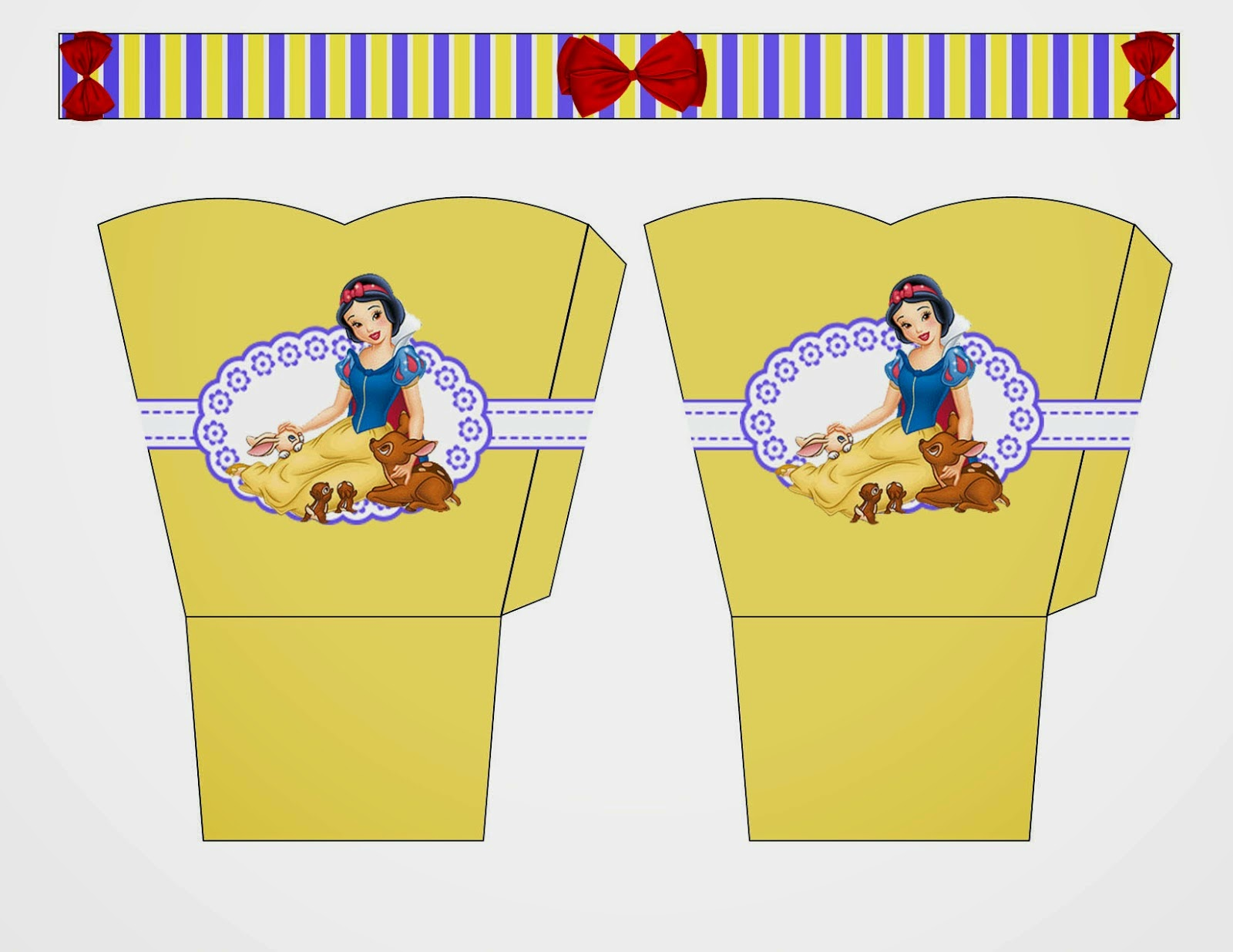 Snow White Free Printable Basket.