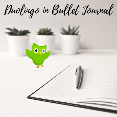 duolingo in bullet journal