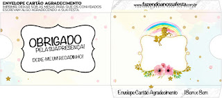 Unicorn Party Free Printable Envelope congratulations.