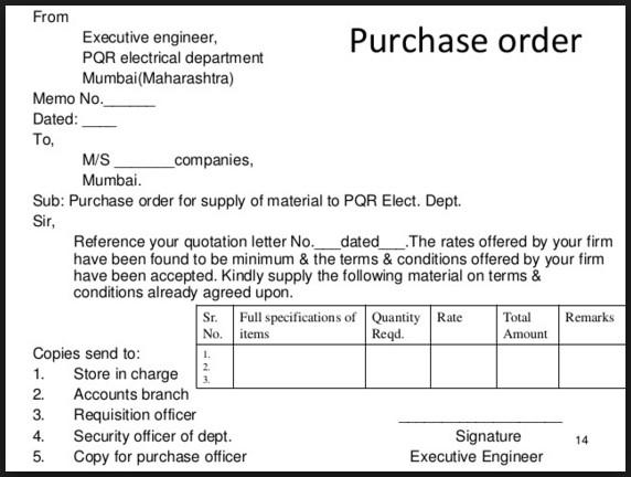 Contoh Surat Purchase Order Dalam Bahasa Inggris