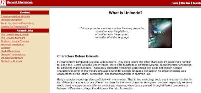 Unicode Homepage