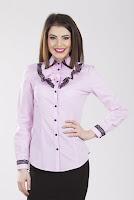 Camasa roz din bumbac 2093 (Ama Fashion)