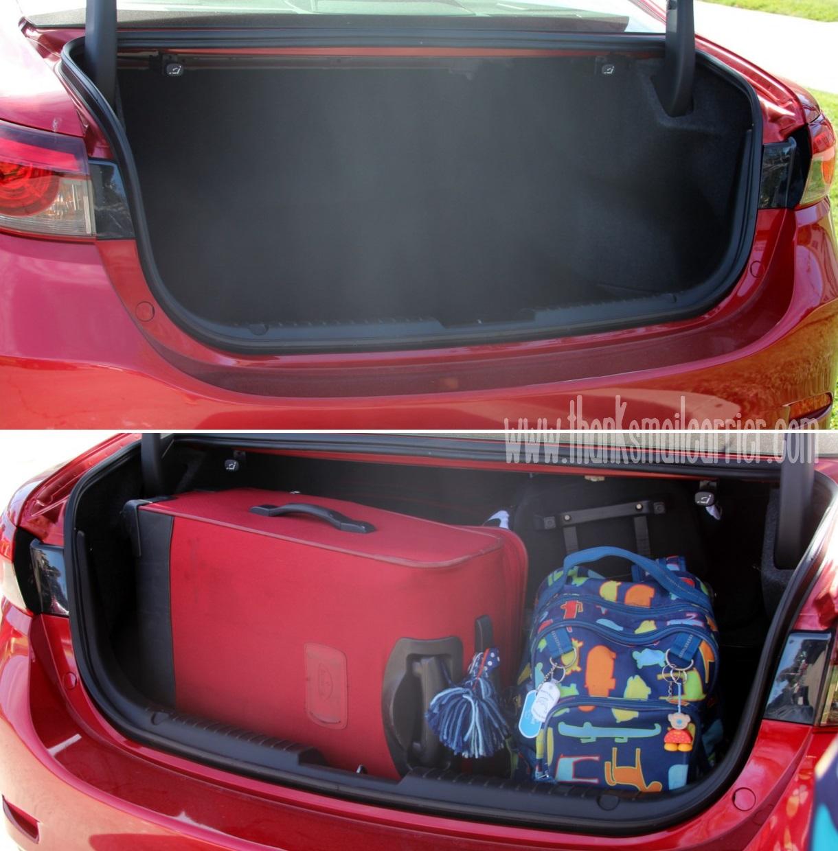 Mazda6 trunk space