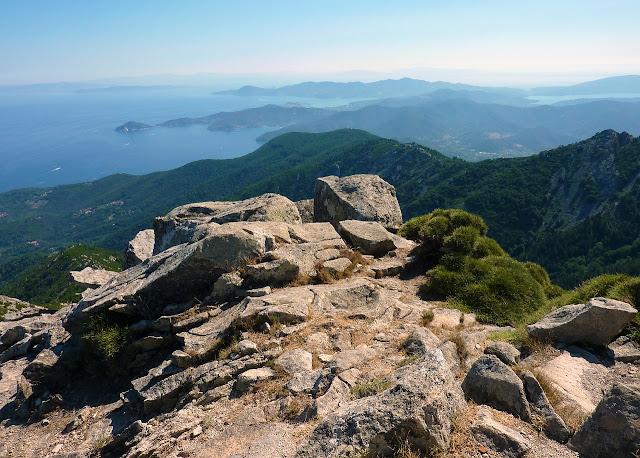 Il magnifico panorama dalle alture dell'isola d'Elba