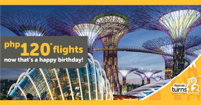 TigerAir 12th Birthday Sale 2016: Fly to Singapore for P120