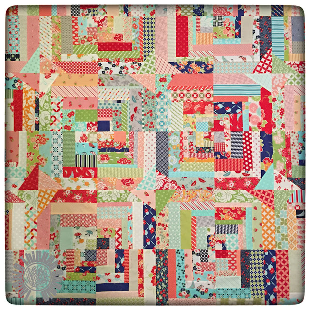 Bonnie & Camille Log Cabin Swap on Instagram. Quilt by Thistle Thicket Studio. www.thistlethicketstudio.com