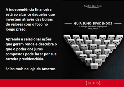 Guia Suno Dividendos disponível na loja da Amazon.