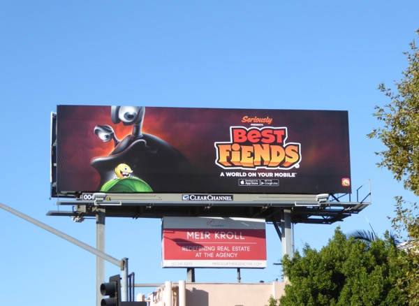 Best Fiends mobile game billboard