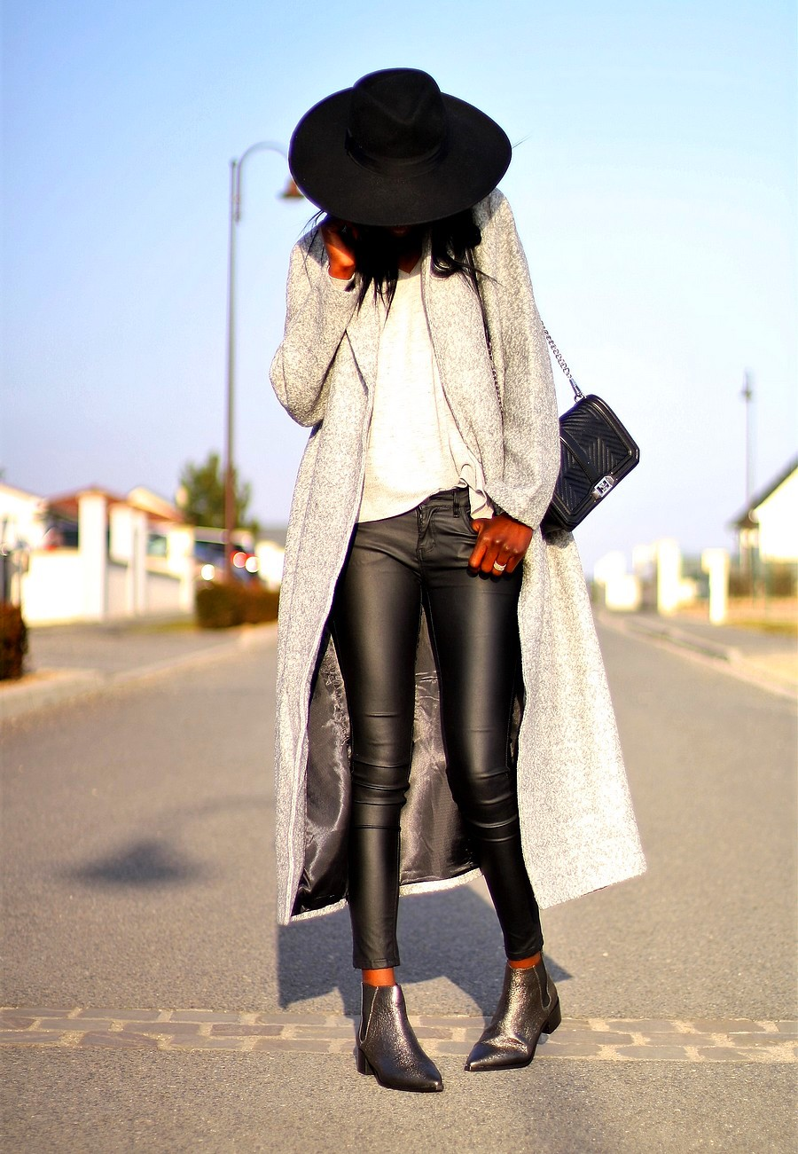 oootd-western-chic-chelsea-boots-office-long-coat-missguided-coated-pants-zara-fedora-hat
