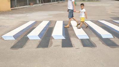 Pedestres na faixa 3D