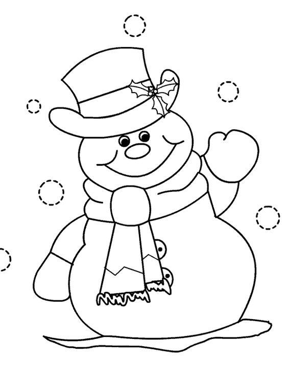Tranh tô màu người tuyết vui vẻ