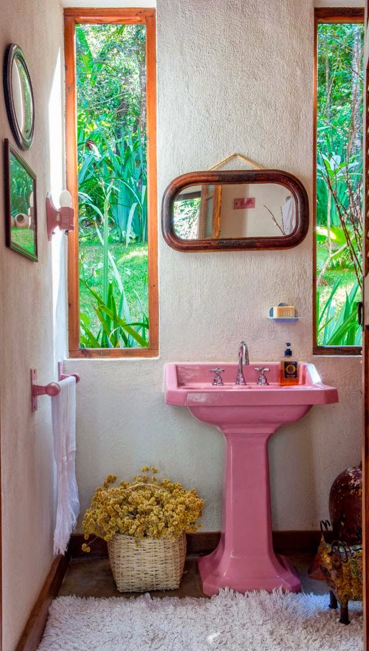Moon Creating Relaxing Bohemian Bathroom