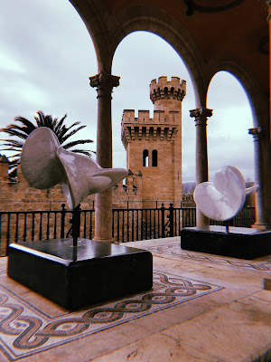 sculptures and part of the castle building in palma