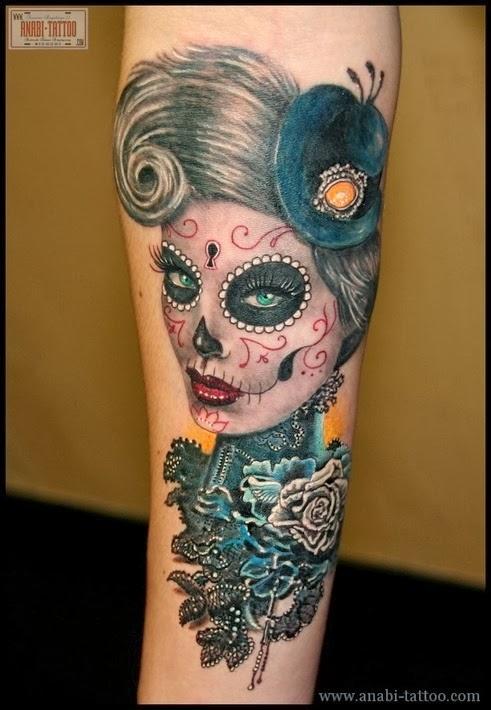 Sugar Skull Tattoo Meaning| Skull Tattoo Designs | Home ...