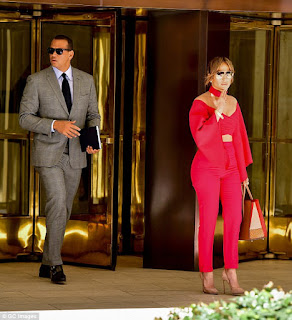 Jennifer Lopez and her latest beau Alex Rodriguez cut glamorous figures when they were spotted together