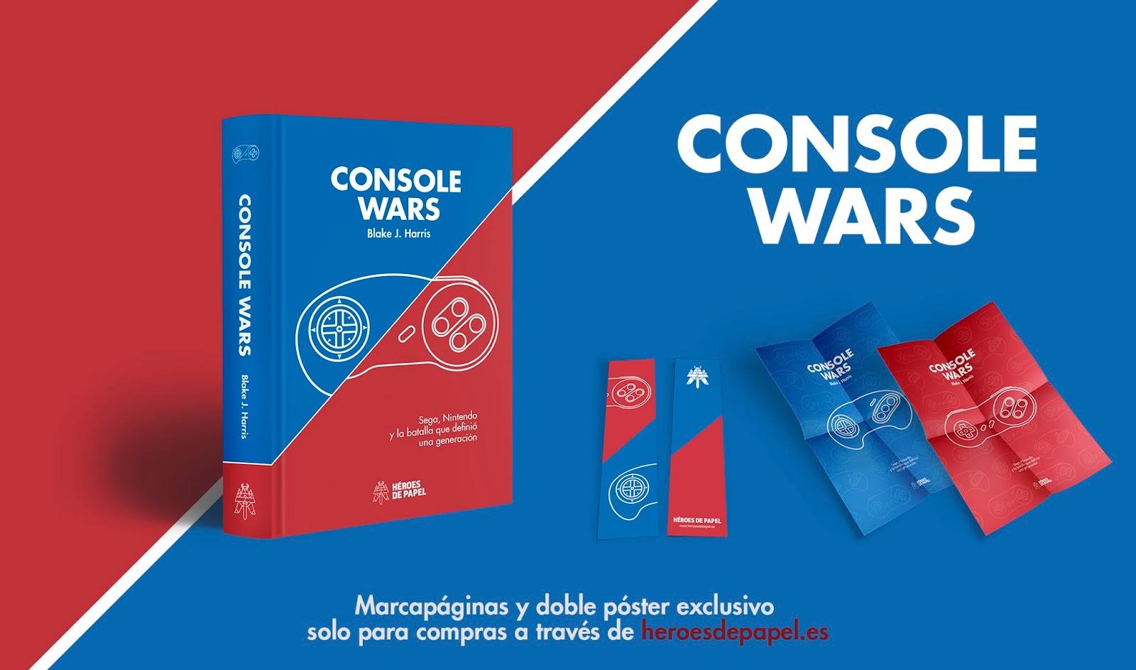 No te quedes sin tu ejemplar de Console Wars, ¡resérvalo y llévate regalos!