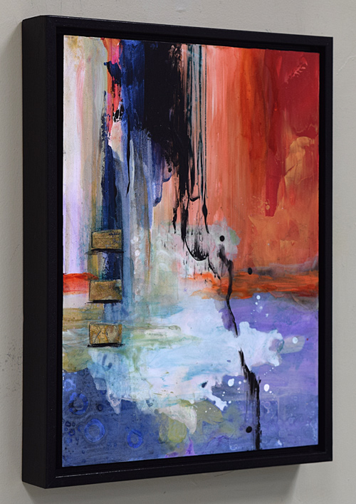side view framed abstract painting