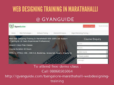 Web Designing Training In Marathahalli