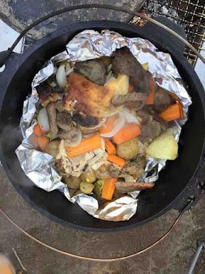 ダッチオーブン 鳥の丸焼き 残り物