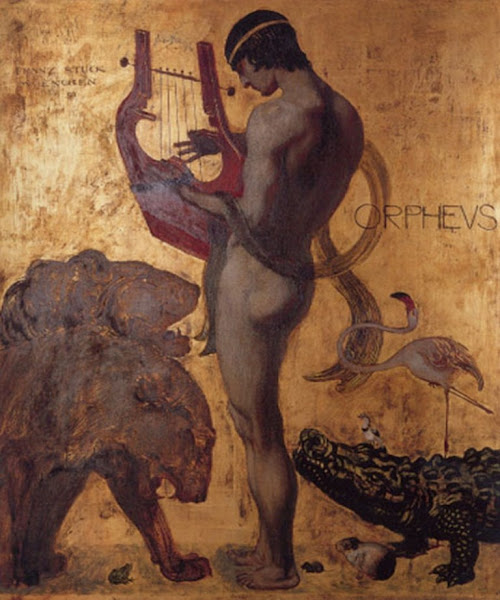 Orpheus by Franz Von Stuck, Classical mythology, Greek mythology, Roman mythology, mythological Art Paintings, Myths and Legends