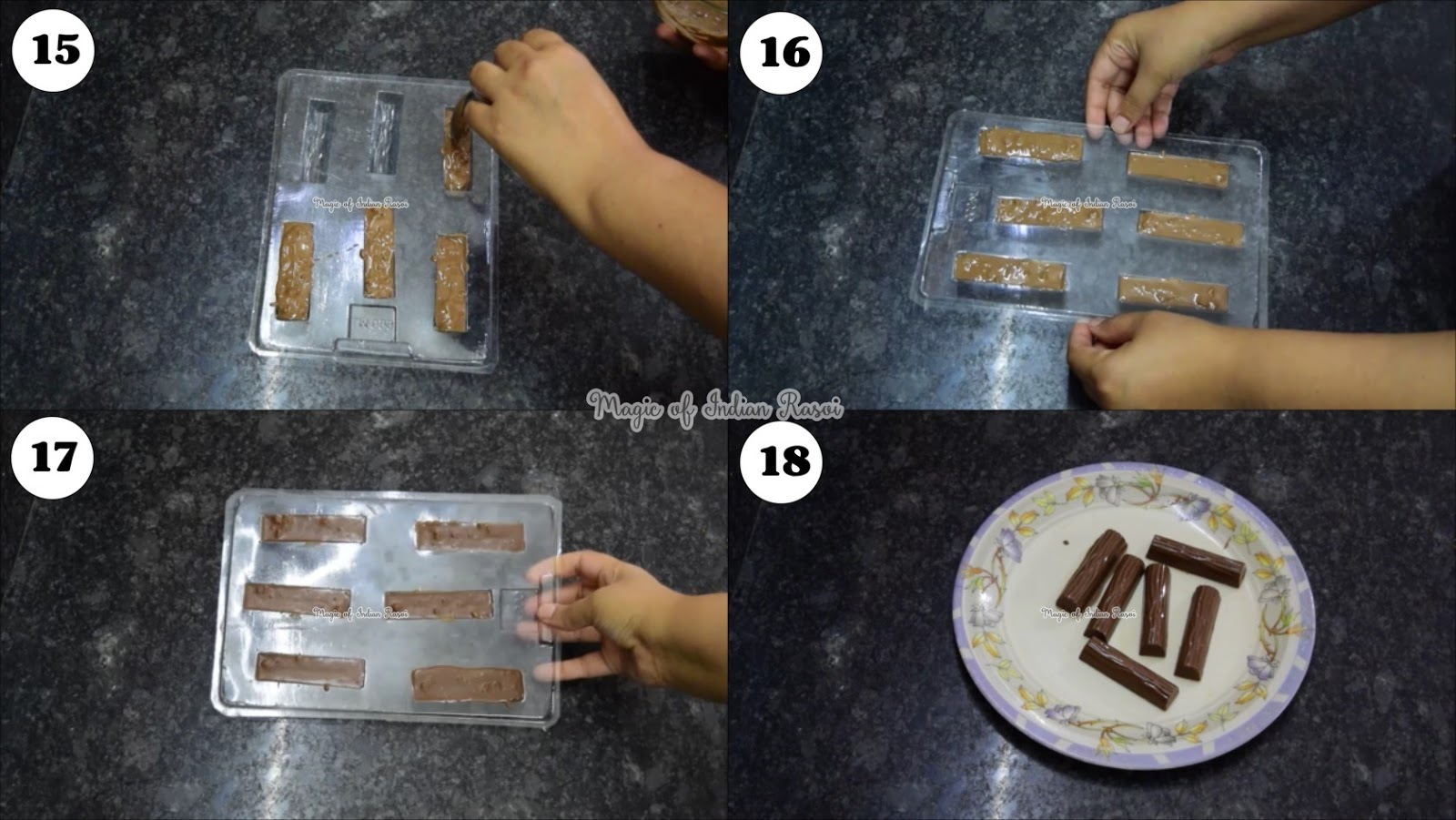 Crunchy Honey and Almonds Chocolate (Homemade) Recipe - कुरकुरे हनी और बादाम चॉकलेट (घर बनाया) रेसिपी - Priya R - Magic of Indian Rasoi