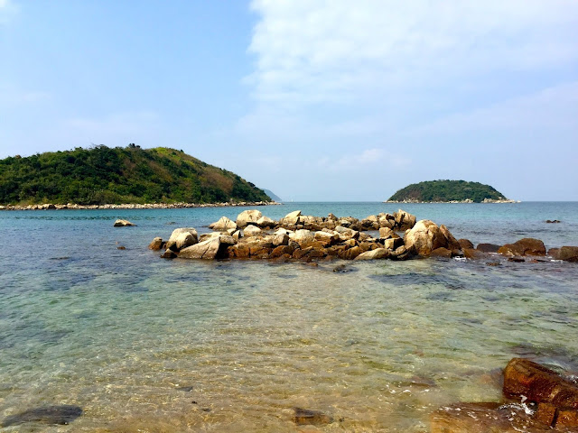 Remote deserted islands in Hoi Ha bay, Sai Kung Peninsula, Hong Kong