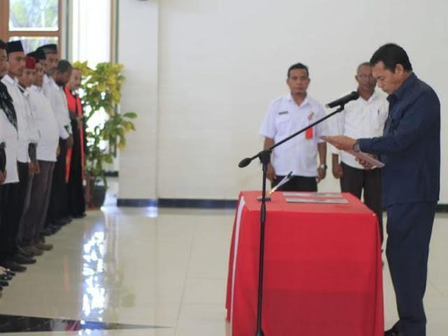 Muh Din Lantik Ratusan Anggota BPD di Maba dan Wasile