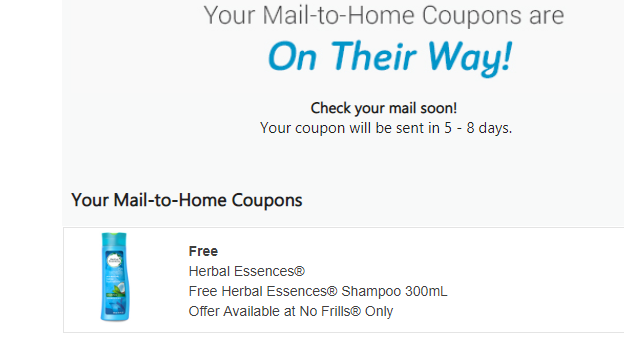 FREE product coupon for Herbal Essences.