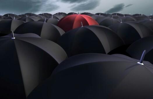 Payung Merah Hitam Cantik
