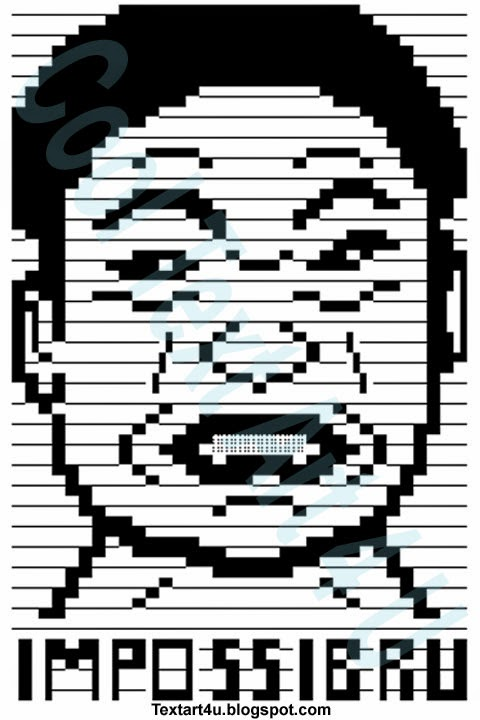 Impossibru Meme Face ASCII Text Art | Cool ASCII Text Art 4 U