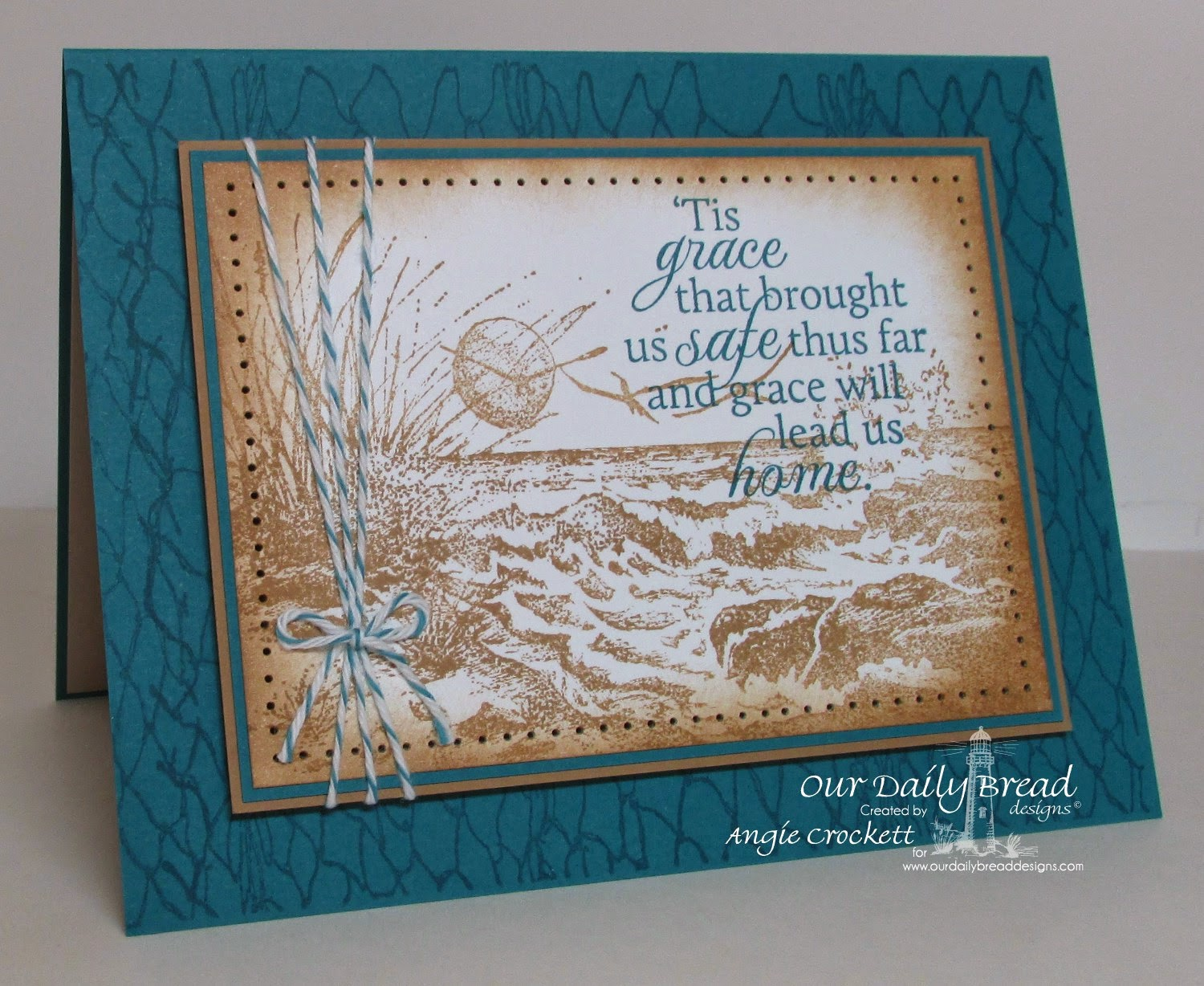 ODBD How Great Thou Art, ODBD The Mighty Sea, ODBD Fishing Net Background, Card Designer Angie Crockett