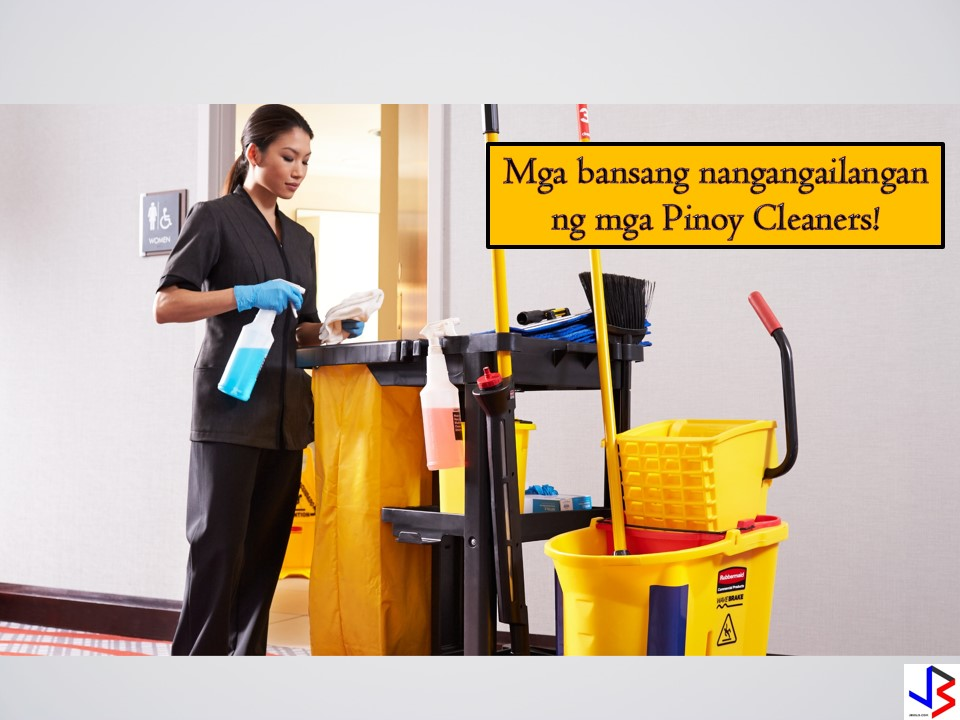 11 Countries, Hiring for Filipino Cleaners