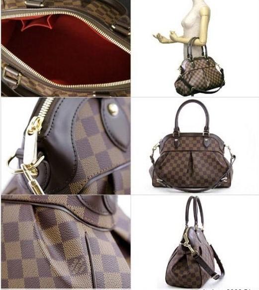fashion bags  Louis Vuitton Damier Trevi PM Bag  a8b1be32ef80b
