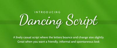 dancing script font free