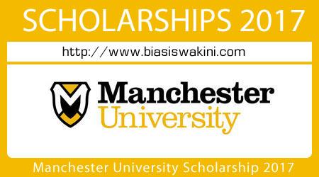 Manchester University Scholarship 2017