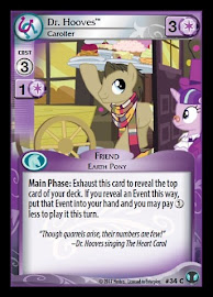 My Little Pony Dr. Hooves, Caroller Defenders of Equestria CCG Card