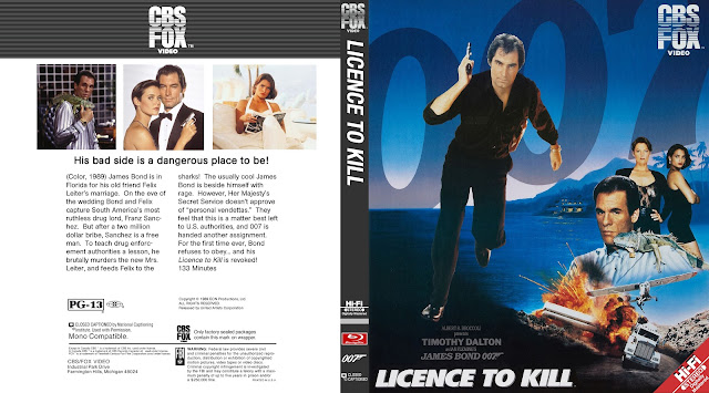 Licence To Kill Bluray Cover