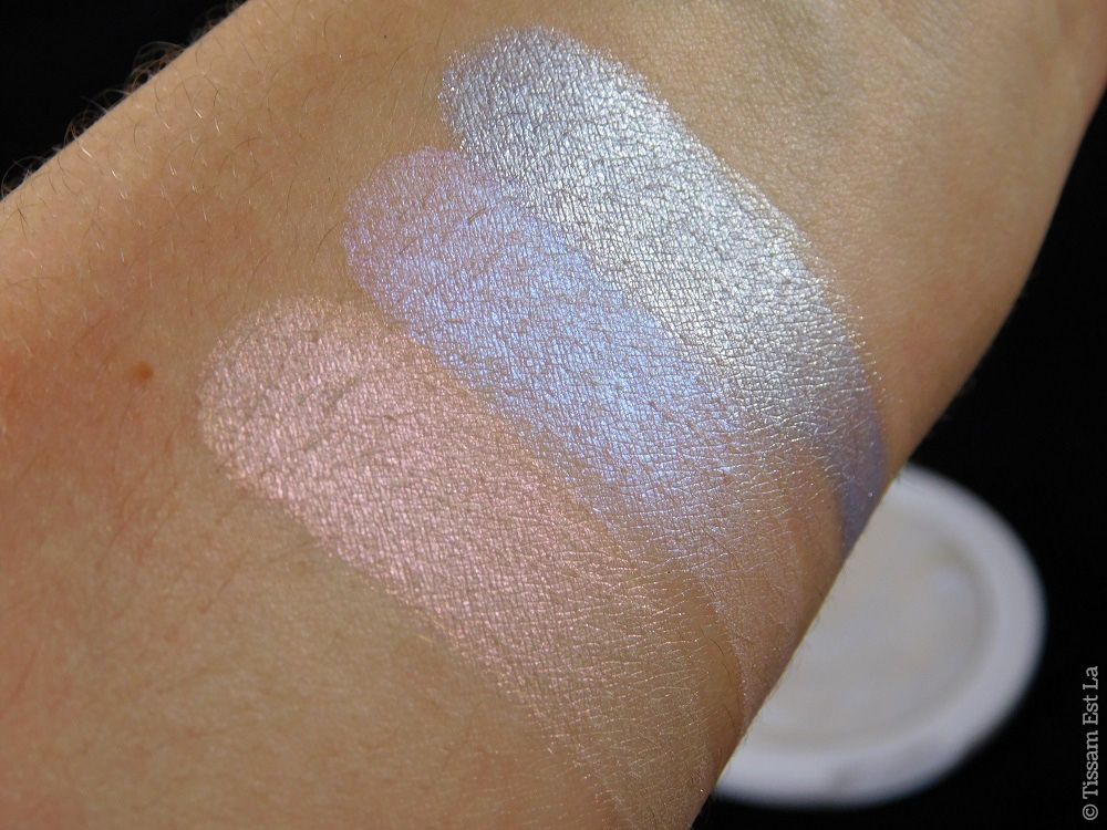 MUA Makeup Academy - Undress Your Skin Shimmer Highlighters Spring 2017 - Peach Diamond, Pearlescent Sheen & Ice Sparkle - Review & Swatches