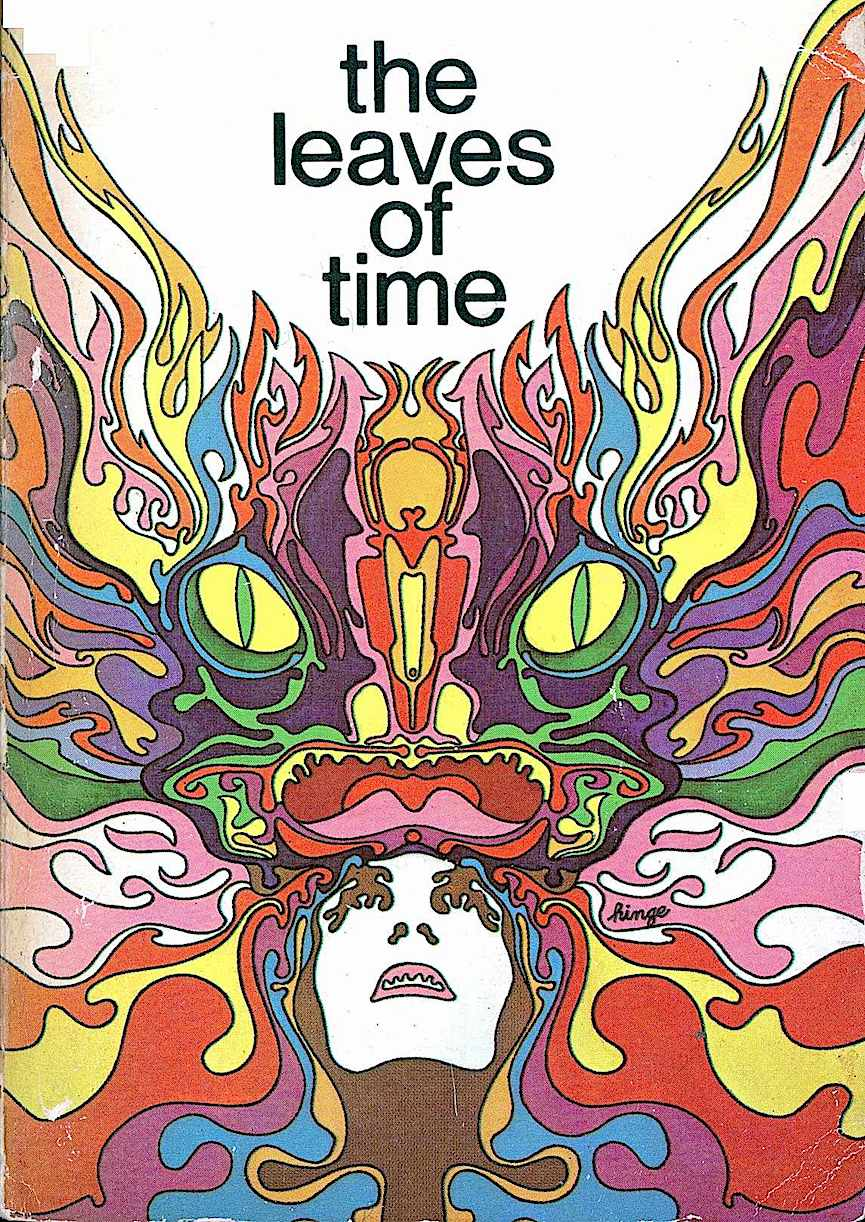 "a Mike Hinge illustration, ""The leaves of time"""