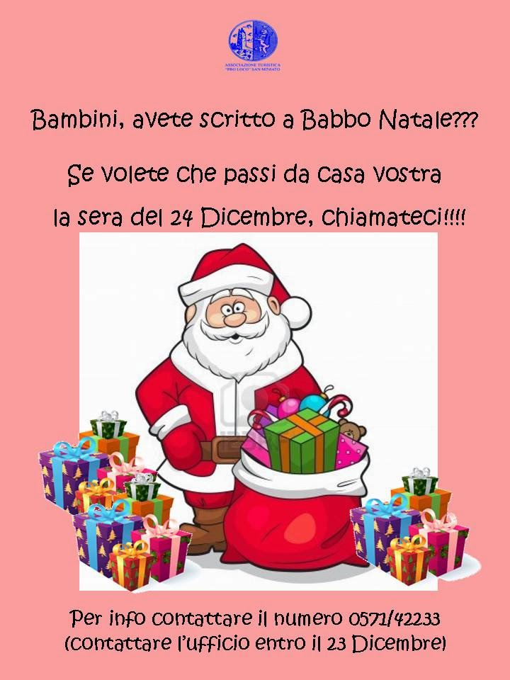 Babbo Natale A Domicilio.Pro Loco San Miniato Babbo Natale A Domicilio