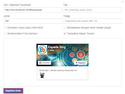 Cara Memasang Like Box Fanspage Facebook di Blog 12