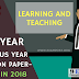 Previous Year Question Paper/Model Question Paper-B.Ed 1st Year (Learning and Teaching)