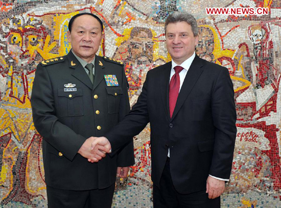 Chinese Defense Minister wraps up visit to Macedonia