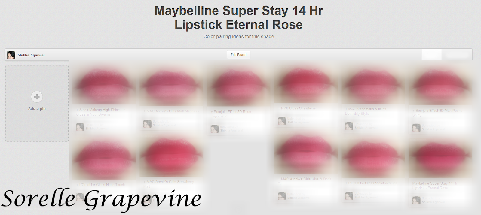 Sorelle Grapevinethe Pairing Project Maybelline Super Stay 14 Hr