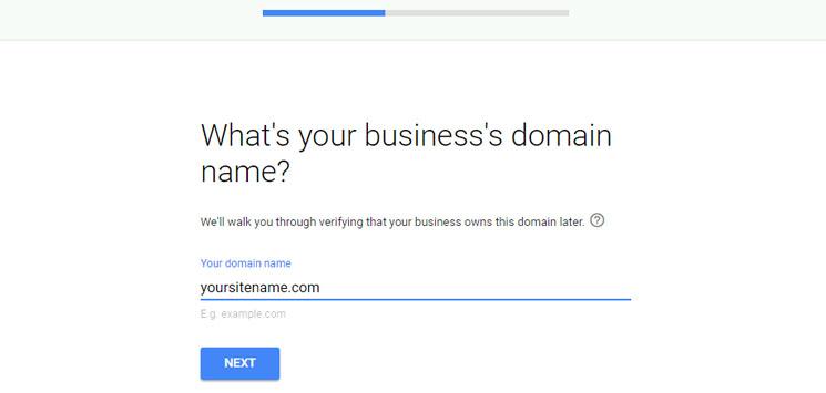 Masukkan nama domain bisnis